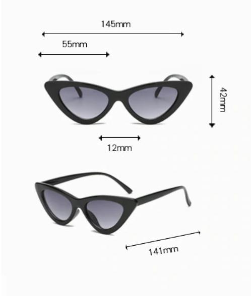 Stylové úzké sluneční brýle